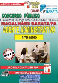 Apostila Digital Concurso de MAGALHÃES BARATA/PA 2019 – Agente Administrativo