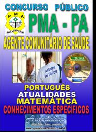 Apostila Impressa Concurso PREFEITURA MUNICIPAL DE ANANINDEUA/PA 2019 - Agente Comunitário de Saúde