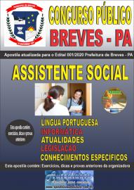 Apostila Impressa Concurso Público Prefeitura de Breves - PA 2020 Assistente Social