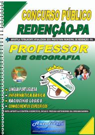 Apostila Impressa Concurso Público Prefeitura de Redenção - PA 2020 Professor de Geografia