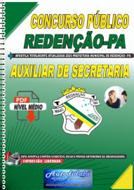 Apostila Digital Concurso Público Prefeitura de Redenção - PA 2020 Auxiliar de Secretaria