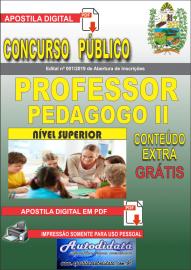 Apostila Digital Concurso Prefeitura Municipal de Tucumã - PA 2019 Professor Pedagogo II