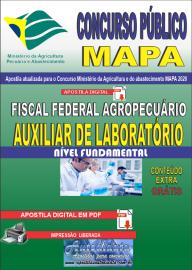 Apostila Digital Concurso Público do MAPA - 2020 Fiscal Federal Agropecuário - Auxiliar de Laboratório