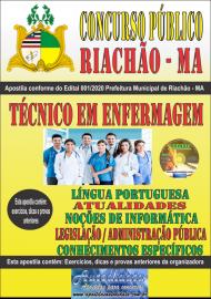Apostila Impressa Concurso Público Prefeitura e Câmera Municipal de Riachão - MA 2020 Técnico em Enfermagem