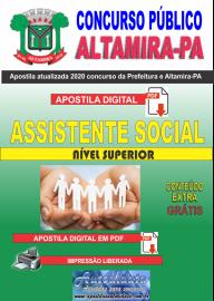 Apostila Digital Concurso Prefeitura de Altamira - PA 2020 -  Assistente Social