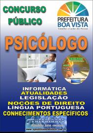Apostila Impressa BOA VISTA/RR 2019 - Psicólogo