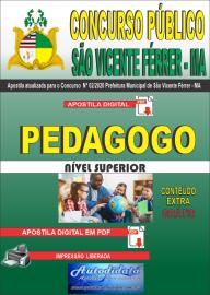 Apostila Digital Concurso Público São Vicente Férrer - MA 2020 Pedagogo