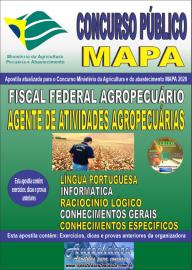 Apostila Impressa Concurso Público do MAPA - 2020 Auditor Fiscal Federal Agropecuário - Agente de Atividades Agropecuárias