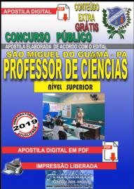 Apostila Digital concurso SÃO MIGUEL DO GUAMÁ/PA 2019 – Professor De Ciências