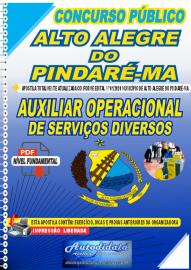 Apostila Digital Concurso Público Alto Alegre do Pindaré - MA 2020 Auxiliar Operacional de Serviços Diversos