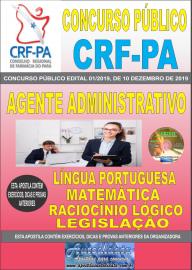 Apostila impressa concurso Conselho Regional de Farmácia - Pa 2020 Nível Médio Agente Administrativo