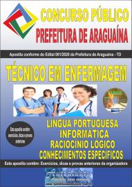 Apostila Impressa Concurso Público Prefeitura Araguaína - TO 2020 Área Técnico em Enfermagem
