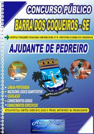 Apostila Impressa Concurso Público Barra dos Coqueiros - SE 2020 Ajudante de Pedreiro