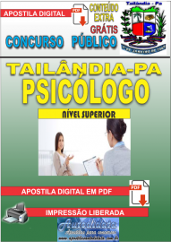 Apostila Digital TAILÂNDIA/PA 2019 - Psicólogo