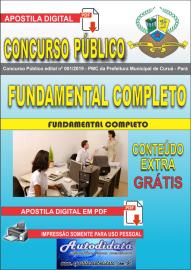 Apostila Digital Concurso Público Prefeitura Municipal de Curuá - Pará 2019 Nível Fundamental Completo