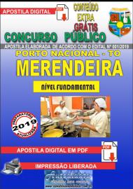 Apostila Digital Concurso da Prefeitura de Porto Nacional - TO – 2019 - Merendeira