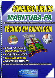 Apostila Impressa Concurso Público Prefeitura de  Marituba - PA 2020 Técnico em Radiologia