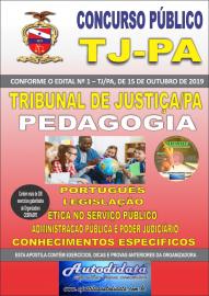 Apostila impressa concurso do TJ-PA 2019 - Tribunal de Justiça do Pará - PEDAGOGIA