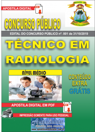 Apostila Digital Concurso - Prefeitura Municipal de Imperatriz - MA 2019 - Técnico em Radiologia