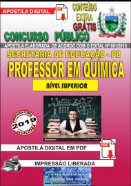 Apostila Digital Concurso SEECT/PB - 2019 - Professor De Química