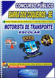 Apostila Digital Concurso Público Prefeitura de Barra dos Coqueiros - SE 2020 Motorista de Transporte Escolar