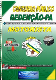 Apostila Digital Concurso Público Prefeitura de Redenção - PA 2020 Motorista
