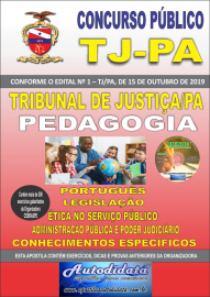 Apostila impressa concurso TJ-PA 2019 - PEDAGOGIA