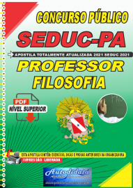 Apostila Digital Concuso Público Seduc-PA 2021 Professor de Filosofia