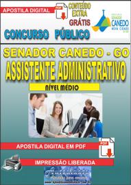 Apostila Digital SENADOR CANEDO/GO 2020 - Assistente Administrativo