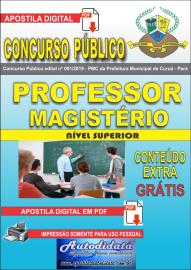 Apostila Digital Concurso Público Prefeitura Municipal de Curuá - Pará 2019 Professor Magistério