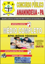 Apostila Digital Concurso Público Prefeitura de Ananindeua - PA 2020 Nível Médio Completo