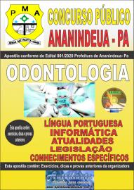 Apostila Impressa Concurso Público Prefeitura de Ananindeua - PA 2020 Área Odontologia