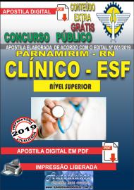 Apostila Digital Concurso PARNAMIRIM – RN/2019 - Clínico da Estratégia de Saúde da Família - ESF