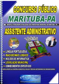 Apostila Impressa Concurso Público Prefeitura de  Marituba - PA 2020 Assistente Administrativo