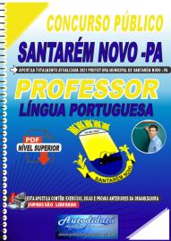 Apostila Digital Concurso Público Prefeitura de Santarém Novo - PA 2021 Professor de Língua Portuguesa