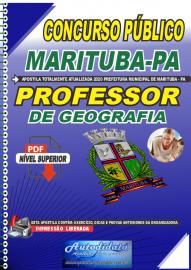 Apostila Digital Concurso Público Prefeitura de Marituba - PA 2020 Professor de Geografia