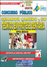 Apostila Digital SENADOR CANEDO/GO 2020 - Assistente De Saúde/Técnico Em Prótese Dentária