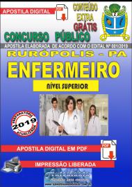 Apostila Digital Concurso PREFEITURA MUNICIPAL DE RURÓPOLIS - PA - 2019 - Enfermeiro