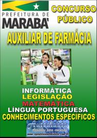 Apostila Impressa Concurso MARABÁ - PA 2018 - Auxiliar De Farmácia