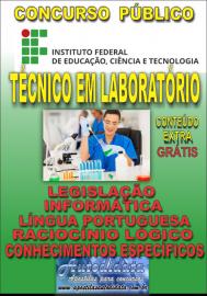 Apostila Digital Concurso INSTITUTO FEDERAL DE EDUCAÇÃO, CIÊNCIA E TECNOLOGIA DO PARÁ - IFPA - PA - 2019 - Técnico em laboratório