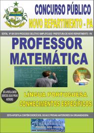 Apostila Impressa Concurso Prefeitura Municipal Novo Repartimento - PA 2019 Professor Matemática