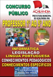 Apostila Impressa Açailândia/MA 2019 - Professor Do 1º Ao 5º Ano