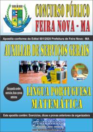 Apostila Impressa Concurso Público Prefeitura de Feira Nova - MA 2020 Fundamental Incompleto Área Auxiliar de Serviços Gerais