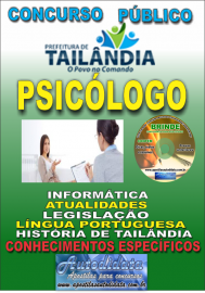 Apostila Impressa TAILÂNDIA/PA 2019 - Psicólogo