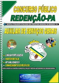 Apostila Impressa Concurso Público Prefeitura de Redenção - PA 2020 Auxiliar de Serviços Gerais