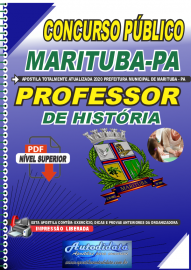 Apostila Digital Concurso Público Prefeitura de Marituba - PA 2020 Professor de História