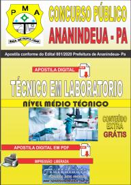 Apostila Digital Concurso Público Prefeitura de Ananindeua - PA 2020 Área Técnico em Laboratorio