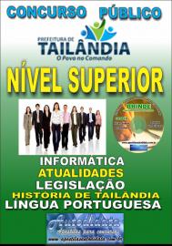 Apostila Impressa TAILÂNDIA/PA 2019 - Nível Superior - Conhecimentos Gerais