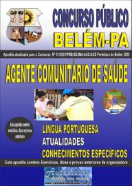 Apostila Impressa Concurso Público Prefeitura de Belém - 2020 Agente Comunitário de Saúde