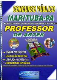 Apostila Impressa Concurso Público Prefeitura de  Marituba - PA 2020 Professor de Artes